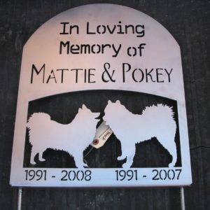 Personalized Animal Tombstone