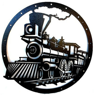Train Wall Art metal locomotive train wall art